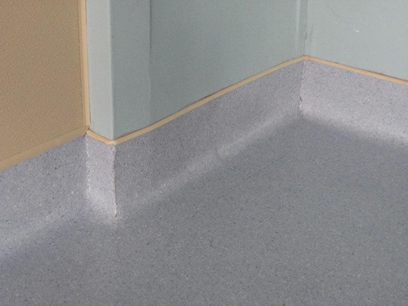 Commercial Showroom Top Line Floors - Coved floor tiles